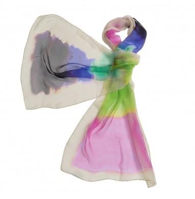 Stola FIJI multicolor in seta