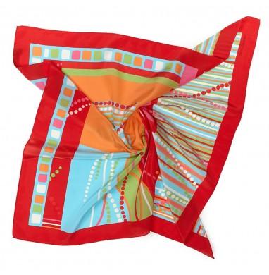 Foulard BRIKO rosso in seta