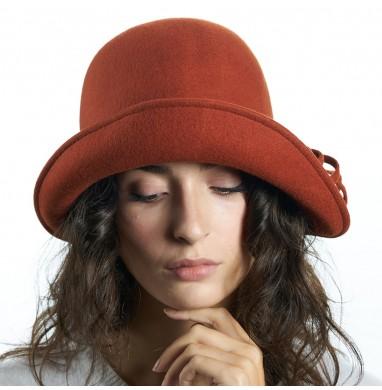 Cappello AMBRA Mattone in lana