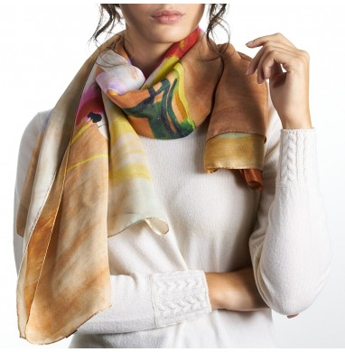 Foulard LIV orange silk