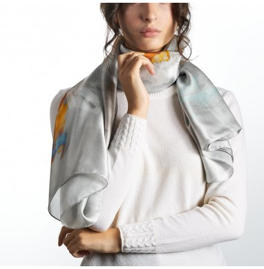 Foulard LIV grey silk
