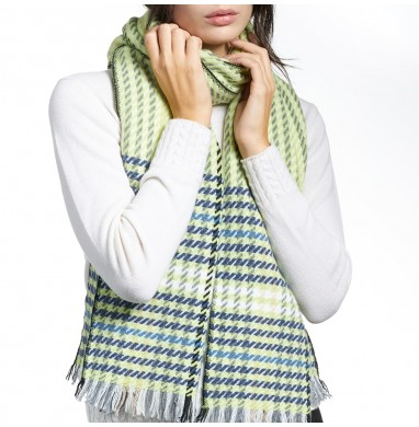 Scarf MARION green cashmere