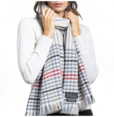 Scarf MARION grey cashmere