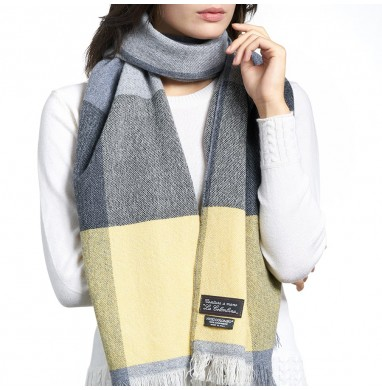Scarf ANDREA yellow-grey...