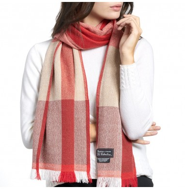 Scarf ANDREA red beige...