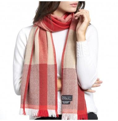 Sciarpa ANDREA rosso-beige...