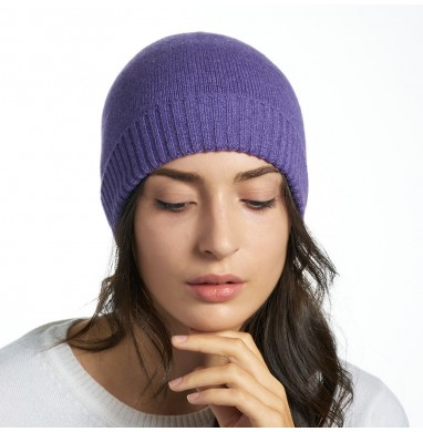 Knitted hat LIFE purple...