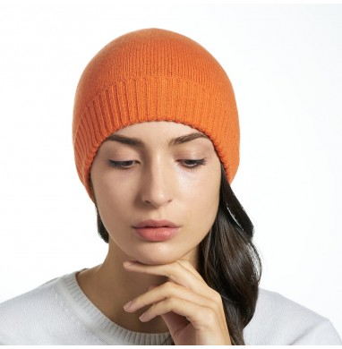 Knitted hat LIFE orange...