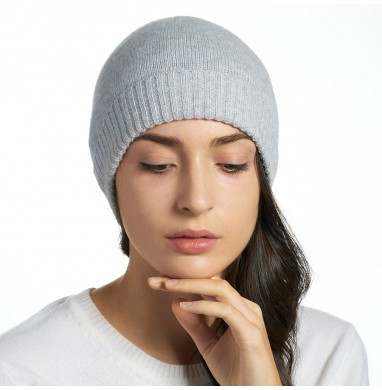 Knitted hat LIFE grey...
