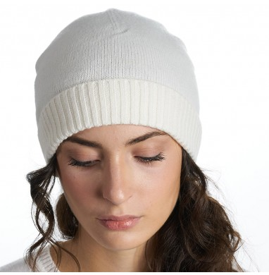 Knitted hat LIFE cream...