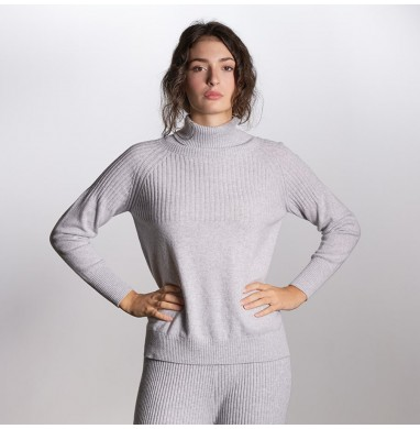 Sweater BELIZE grey cashmere