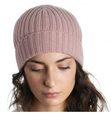 Hat GOLD pink cashmere