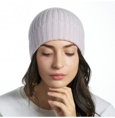 Hat GOLD baby pink cashmere