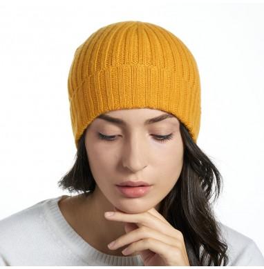 Hat GOLD mustard cashmere