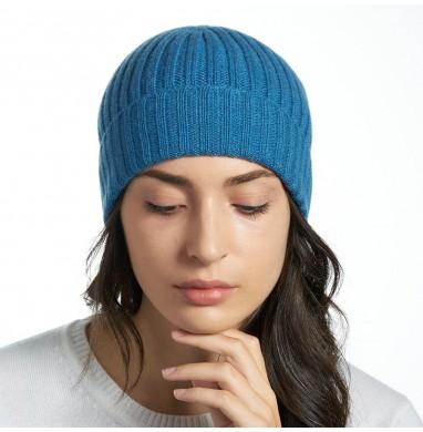 Hat GOLD blue denim cashmere