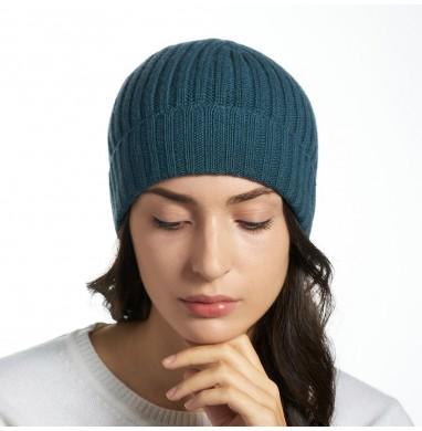 Hat GOLD blue-green cashmere