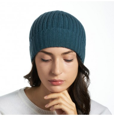 Hat GOLD blue-green cashmere