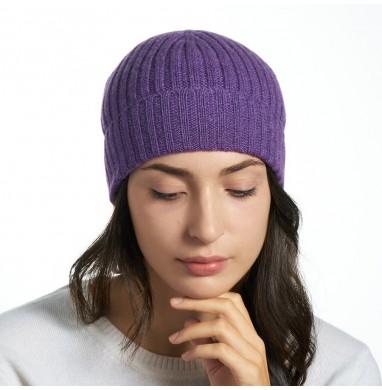 Hat GOLD purple cashmere