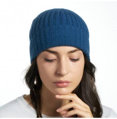 Hat GOLD ocean blue cashmere