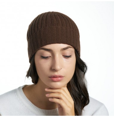 Hat GOLD brown cashmere