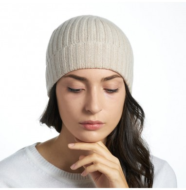 Hat GOLD cream cashmere