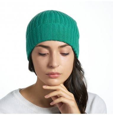 Hat GOLD green cashmere