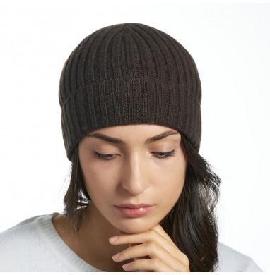 Hat GOLD dark brown cashmere