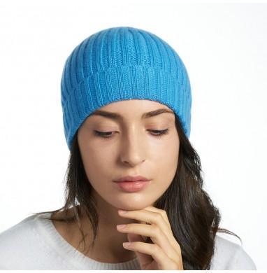 Hat GOLD pale blue cashmere