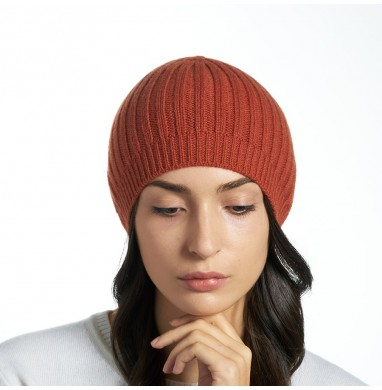 Hat SILVER brick red cashmere