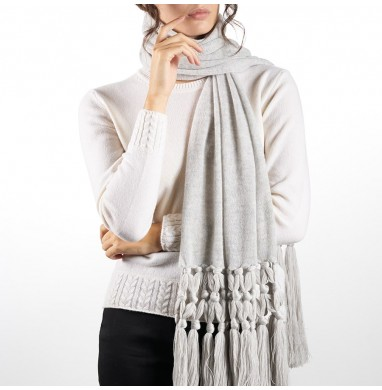 Scarf IRIS grey 70% wool...