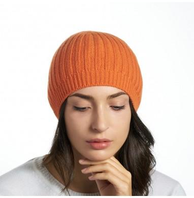 Hat SILVER orange cashmere