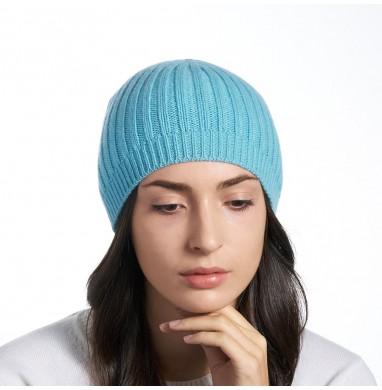 Hat SILVER blue aqua cashmere