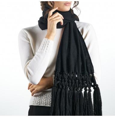 Scarf IRIS black70% wool...