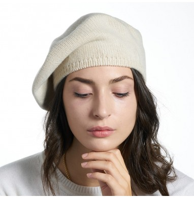 Beret RASO beige 70% wool...