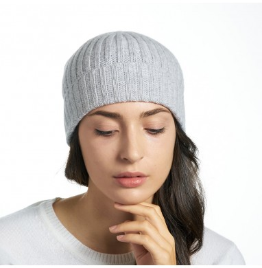 Hat GOLD grey cashmere