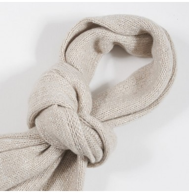 Scarf BOLLE beige eco-cashmere