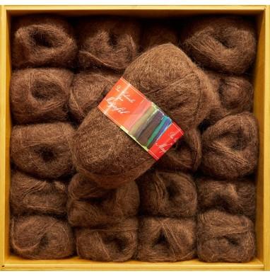 Yarn SANDRA brown carded...