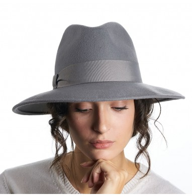 Cloche ANNA medium grey wool