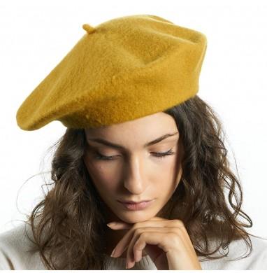 Beret BRERA Mustard wool